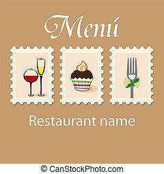Menu design - Vector menu pattern