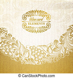 Menu design wine list. - Menu design wine list with wave...