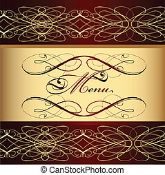 Menu design with decorative element