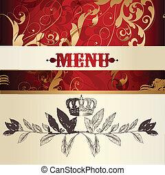 Menu design  with ornament