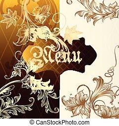 Menu design with vintage elements