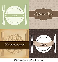 menu, ensemble, restaurant