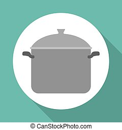 menu equipment design over white background, vector illustration