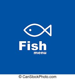 menu, fish, -, gabarit, conception