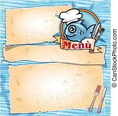menu, fish