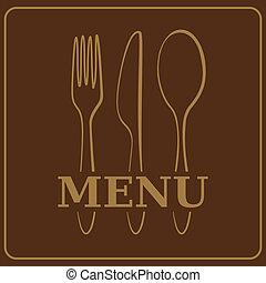 menu, fond