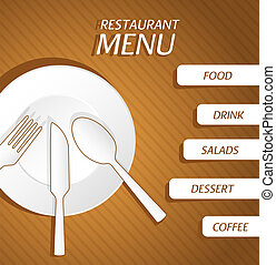 menu, fond, restaurant