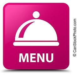Menu (food dish icon) pink square button