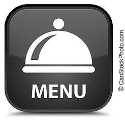 Menu (food dish icon) special black square button