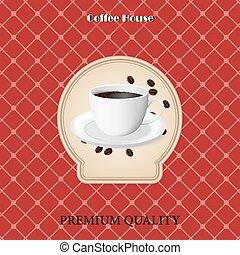 menu for coffee in vintage