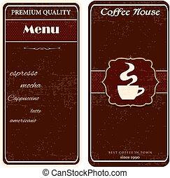 menu for coffee shop