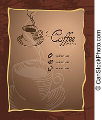Menu for restaurant, cafe, bar, coffeehouse