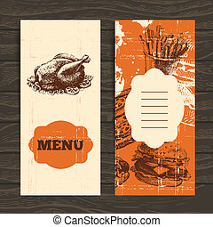 Menu for restaurant, cafe, bar, coffeehouse. Vintage...