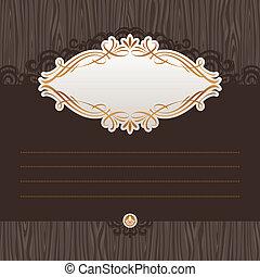 menu, frame, vector, sierlijk