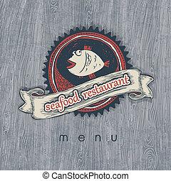 menu., fruits mer, eps10., vectior, restaurant