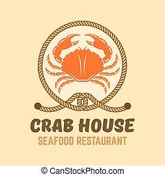 menu, fruits mer, vecteur, illustration, restaurant