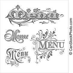 Menu headlines collection