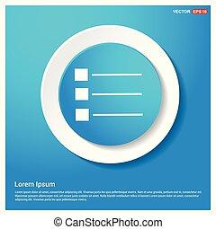 menu icon Abstract Blue Web Sticker Button
