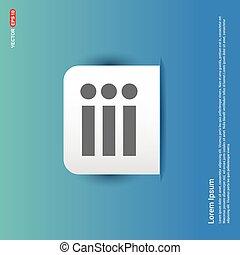 menu icon - Blue Sticker button