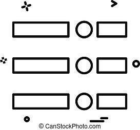Menu icon design vector