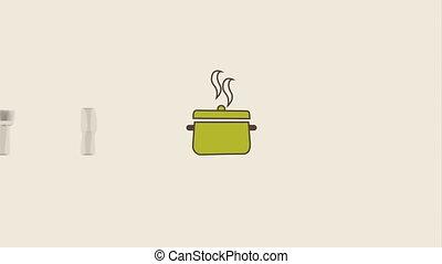 menu icon design, video animation hd1080
