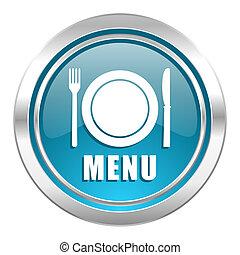 menu icon, restaurant sign