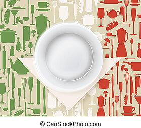 menu, italiano, cartaz, restaurante