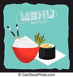 menu, japonaise