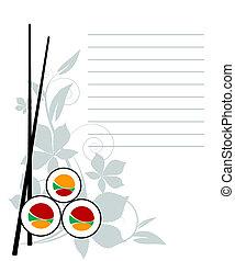 menu, japonaise, restaurant