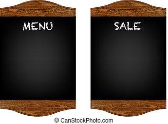 menu, jogo, tábua, restaurante