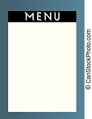 menu, kaart