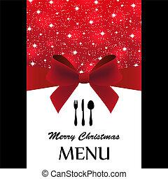 menu, kerstmis, bijzondere