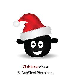 menu, kerstmis
