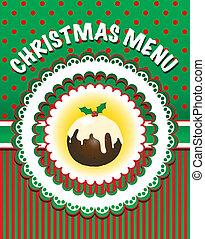 menu, kerstmis, mal