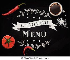 menu, lavagna