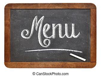 menu, lavagna, segno