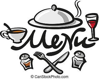 menu, letra