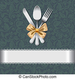 Menu  - Luxurious backdrop for the menu