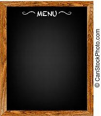 menu, madeira, tábua, restaurante