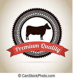 Menu meat - menu meat over beige background vector...