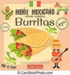 menu, mexicain