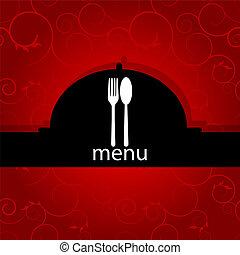 menu, modello