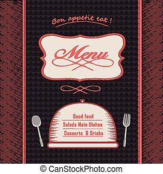 menu, moderne, conception, restaurant
