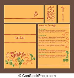 Menu of Mexican food, cinco de mayo elements