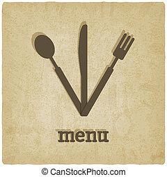 menu old background