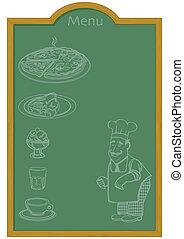 Menu on Chalkboard