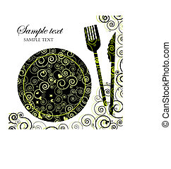Menu or Invitation for Dinner, Parties and Showers -...