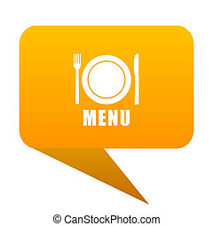 menu orange bulb web icon isolated.