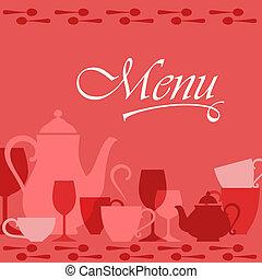 menu, osłona, restauracja