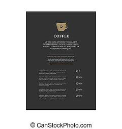 Menu page design